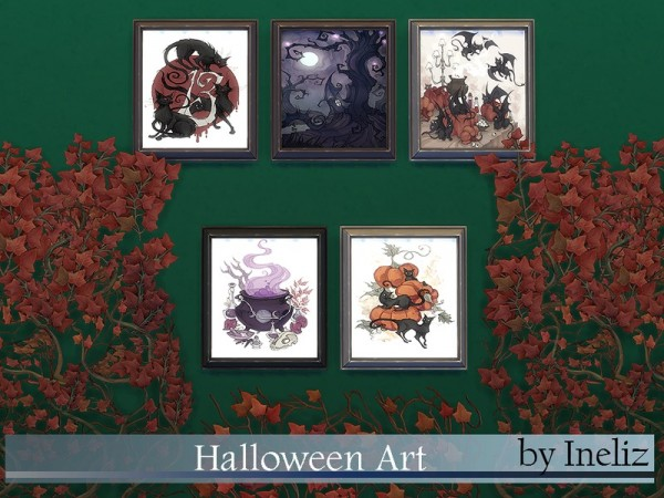 The Sims Resource: Halloween Art by Ineliz