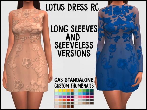 Simsworkshop: Lotus Dress by Sympxls