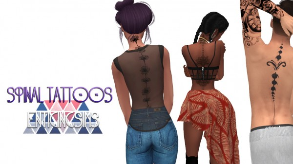 Simsworkshop: Spinal Tattoos by EnticingSims