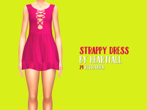 Simsworkshop: Strappy Dress by heartfall