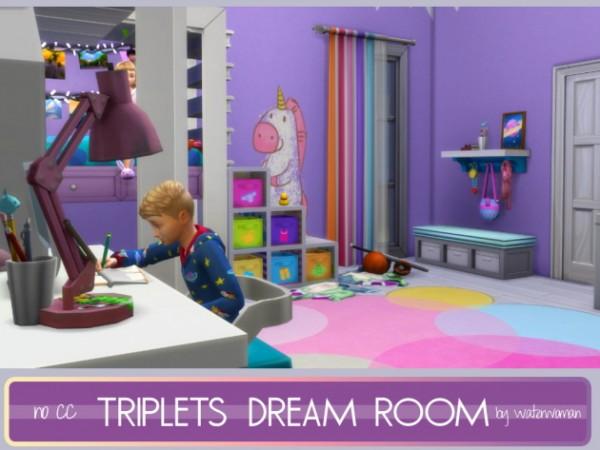 Akisima Sims Blog: Triplets Dream Room ( no cc)