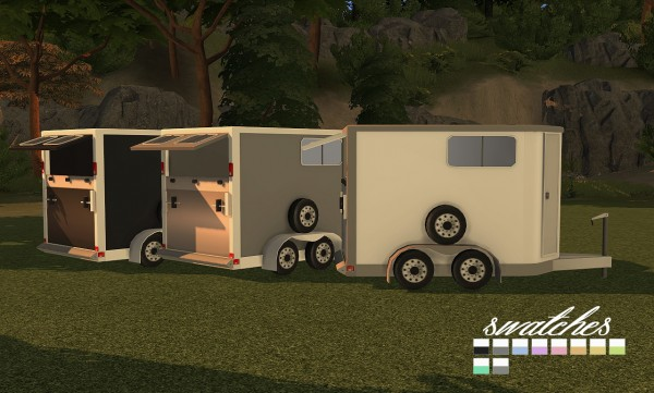 Sims 4 Designs: 9405 Horse Trailers  Open and Closed