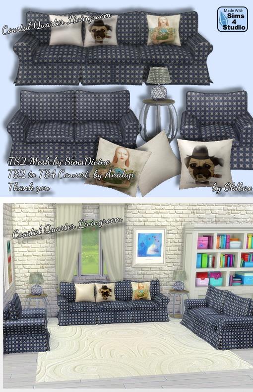 All4Sims: Coastal Quarter Livingroom by Oldbox