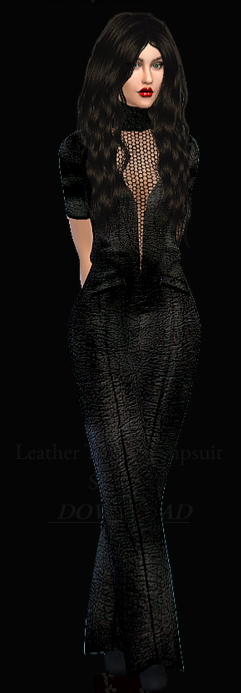 Dreaming 4 Sims: Leather Tneck Jumpsuit
