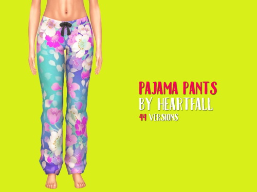 Simsworkshop: Pajama Pants by heartfall