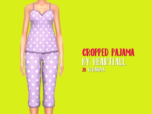 Simsworkshop: Cropped Pajama by heartfall