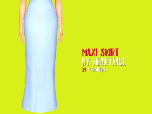 Simsworkshop: Maxi Skirt by heartfall