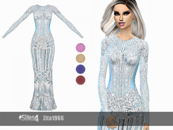 The Sims Resource: Red Carpet Dress by ZitaRossouw