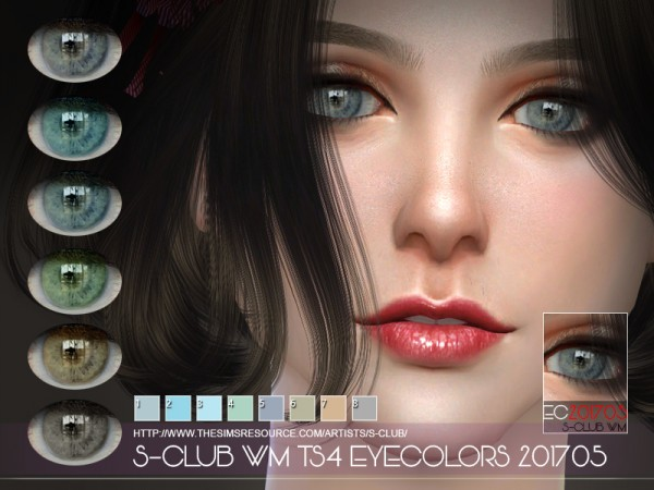 The Sims Resource: Eyecolors 201705 by S Club