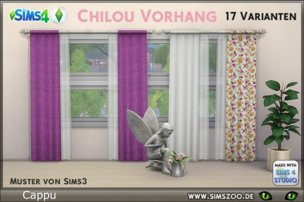 Blackys Sims 4 Zoo: Chilou curtain by Cappu