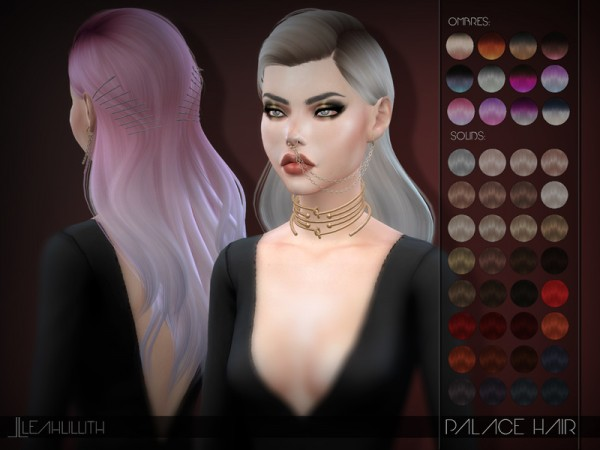 The Sims Resource: LeahLillith Palace Hair