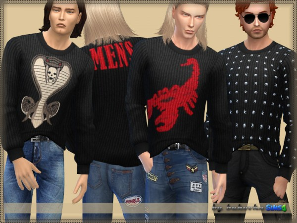 The Sims Resource: Sweater Mens by bukovka