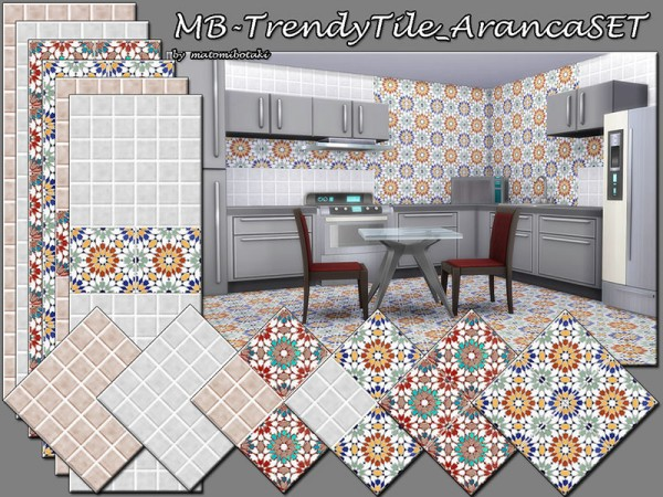 The Sims Resource: Trendy Tile Aranca SET by matomibotaki