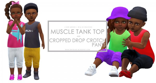 Onyx Sims: Muscle Shirt and Cropped Drop Crotch Pants