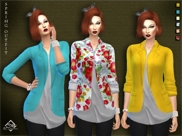 The Sims Resource: Spring Outfit 2017 by Devirose