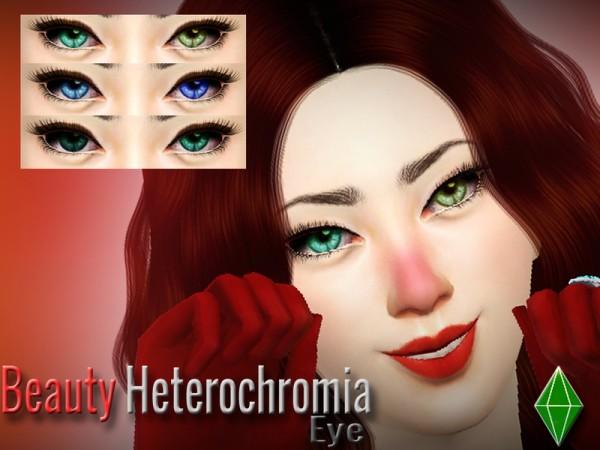 The Sims Resource: Beauty Heterochromia Eye by LJP Sims