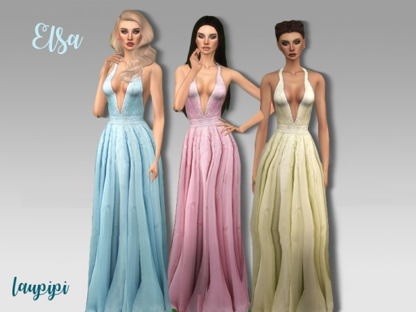The Sims Resource: Elsa dress by Laupipi