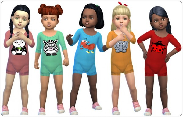 Annett`s Sims 4 Welt: Accessory Knitted Bodysuits for Toddlers
