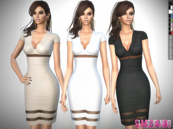 The Sims Resource: 311   Medium Transparent Dress by sims2fanbg