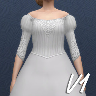 History Lovers Sims Blog: Ester wedding dress and flower
