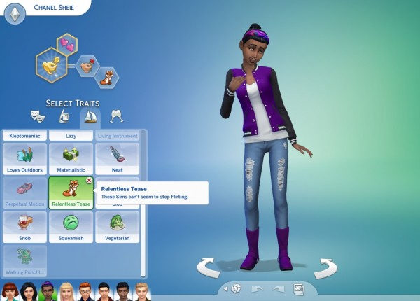 Mod The Sims: 8 Pack of Teen Exclusive Traits by CardTaken