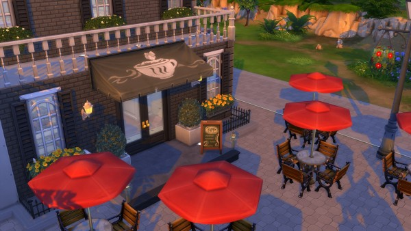 Mod The Sims: Cafè awning  by AlexCroft