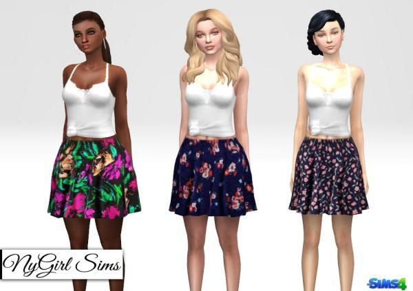 NY Girl Sims: Floral Print Skirt