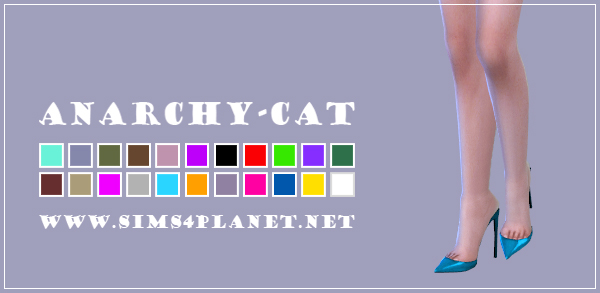 Anarchy Cat: Madlen`s Amatrice Shoes recolor