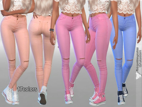 The Sims Resource: Soft Summer Denim Jeans by Pinkzombiecupcakes