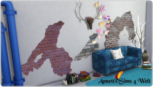Annett`s Sims 4 Welt: Broken Wall   Wall Tattoos