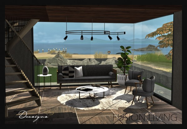 Sims 4 Designs: Fusion Living Set
