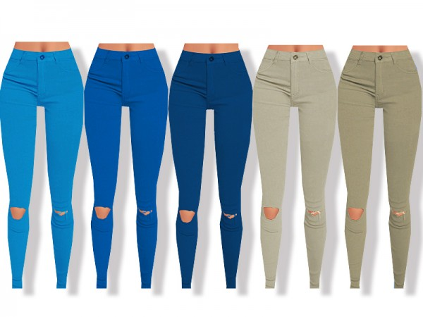 The Sims Resource: High Waisted Skinny Jeans by Pinkzombiecupcakes