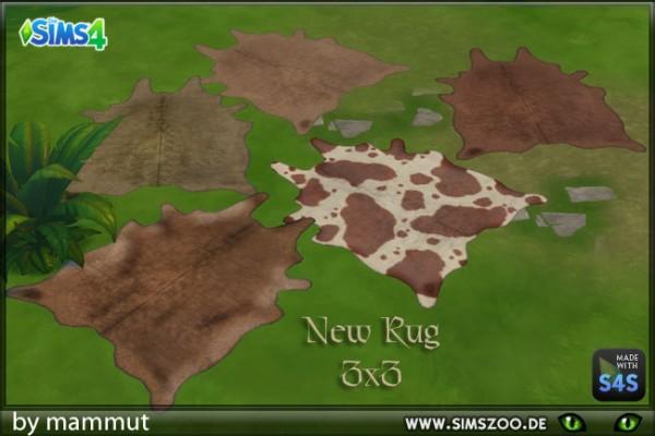 Blackys Sims 4 Zoo: Fur rugs by mammut