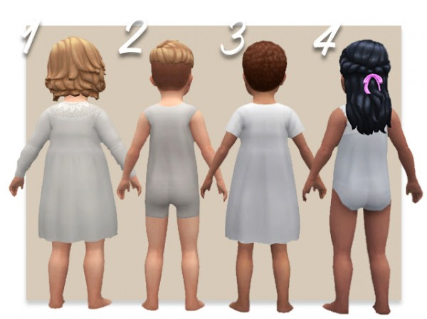 History Lovers Sims Blog: Edwardian toddlers underwear and sleepwear