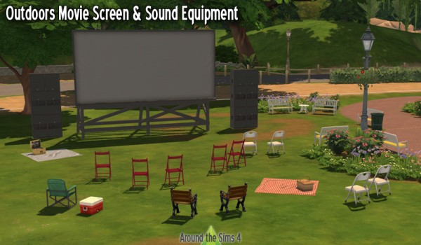 Around The Sims 4: Outdoors Movie Screen