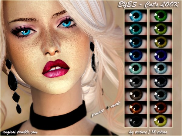 The Sims Resource: EYES  Cats LOOK by ANGISSI