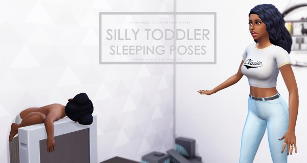 Onyx Sims: Silly Sleeping Toddler Poses