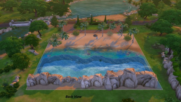 Mod The Sims Mini Tropical Beach With Waves By Snowhaze