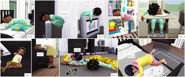 Onyx Sims Silly Sleeping Toddler Poses Sims 4 Downloads