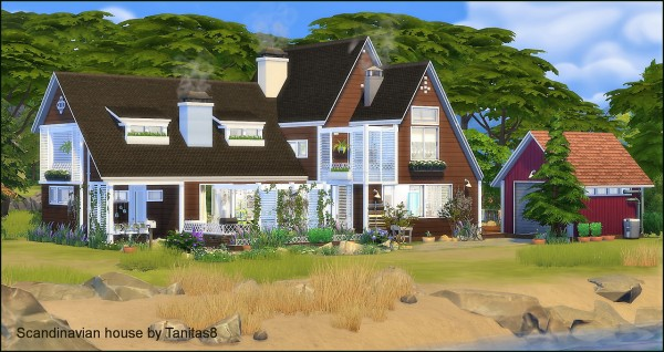 Scandinavian Houses tanitas sims: scandinavian house • sims 4 downloads