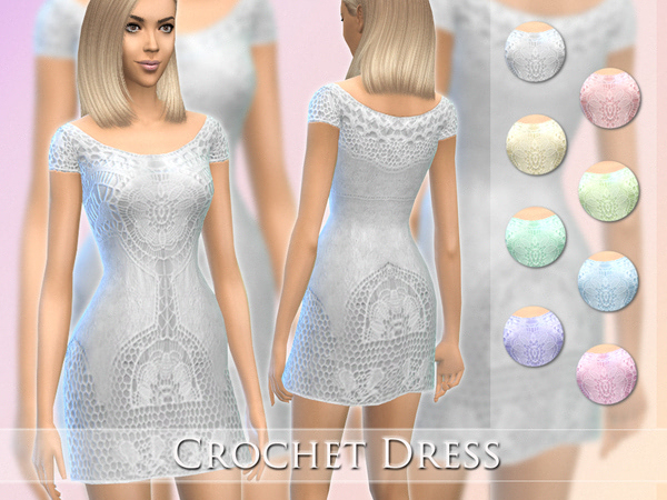 The Sims Resource: Crochet Dress by Jaru Sims