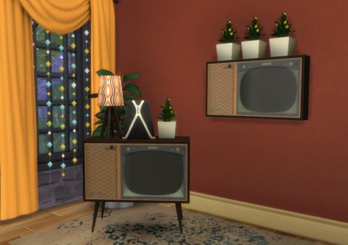 Chillis Sims: BuffSumm`s 1950′s Livingroom TV recolor