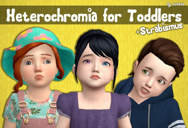 Tukete: Heterochromia and Strabismus