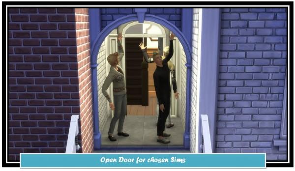Mod The Sims: Open Door for chosen Sims by LittleMsSam