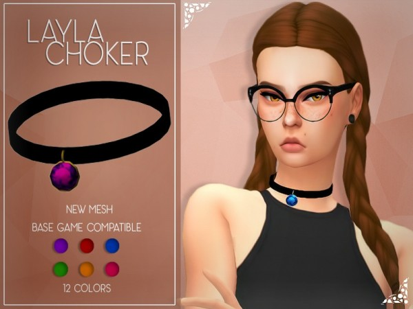 The Sims Resource: Enrique`s Layla Choker by Jruvv