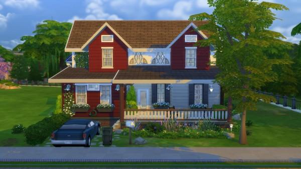 Mod The Sims: Suburban House No CC by Kompaktive • Sims 4