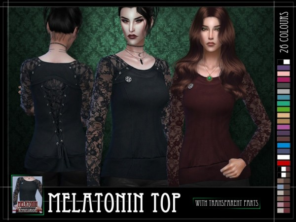 The Sims Resource: Melatonin Top by RemusSirion