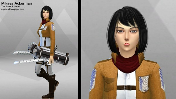 Ng Sims 3 Attack On Titan Eren Mikasa And Armin Sims 4