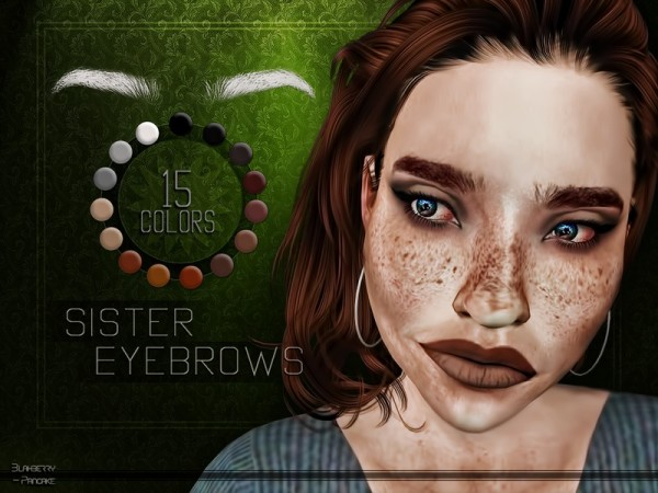 The Sims Resource: Sister Eyebrows by Blahberry Pancake