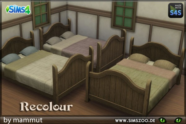Blackys Sims 4 Zoo: Double bed by mammut